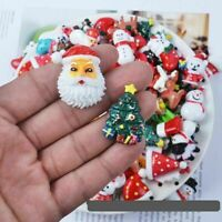 30Pcs Resin Christmas Flatback Embellishments DIY Phone Case Decor Accessories