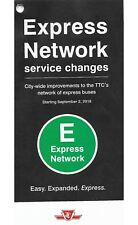 2018 TTC Express Service Map Maps Toronto Downtown Bus