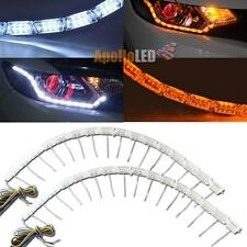 Dual Color White Amber Switchback LED Light Sequential Signal Headlight Mods