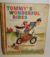 Vintage 1948 Tommy's Wonderful Rides Little Golden Children Book