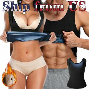 Women's & Man's Body Sweat Shaper Sauna Vest Slimming Gym Yoga Sport Thermal HOT