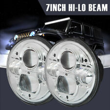 """2X7"""" 200W CREE HI-LO LED Driving Headlights Lamps Round For Land Rover Defender"""