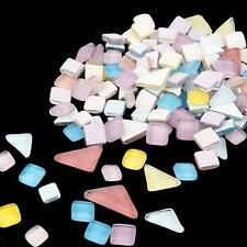 200g Mosaic Tiles Mixed Color Crystal Glass Pieces Crafting Mosaics Stones