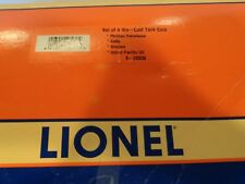 Lionel Trains Set 4 Die Cast Tank Cars Item 26936 NIB Getty Sinclair UP Phillips