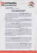 CITROEN C3 PLURIEL October 2002  PRESS RELEASE   *POST FREE UK *