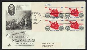 #1261 5c Battle of New Orleans-Plate Block, Art Craft-Add FDC ANY 5=