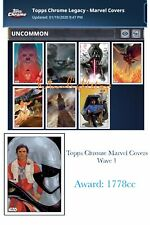 Topps Star Wars Card Trader - Topps Chrome Marvel Covers - WAVE 1 Set + Award