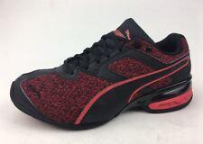 PUMA Boy's 190105-01 Tazon 6 Knit Jr. Athletic Shoes Size 5c, Black/Red 934