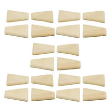 Wood Square Beads Natural Unfinished Flat Wooden Beads Unpainted DIY Jewelry