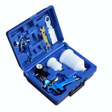 2x HVLP Lackierpistole Spritzpistole Spraypistole 0,8 + 1,3mm Düse Koffer Set