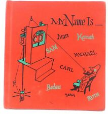My Name is....A Game of Letters and Their Sounds 1959 HARDCOVER Vintage Book