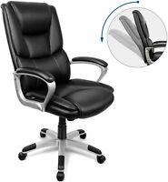 INTEY Executive Chair, Ergonomic PU Office Chair, High-back Office Chair, Desk C