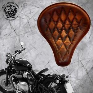 """Triumph Bonneville Bobber since 2016 solo seat """"Long"""" Vintage Brown V3"""