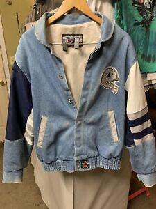 Dallas Cowboys Denim JH Design Sz M Rare NFL Jacket Vintage Vacay Sale