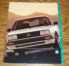 Original 1990 Volkswagen VW Wolfsburg Jetta Sales Brochure 90