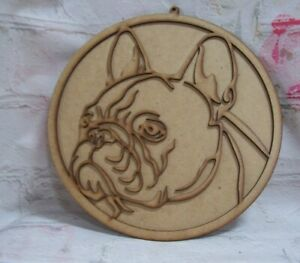 MDF French Bull Dog Plaque Wall art 250mm