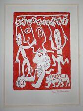 Taillandier Yvon encre sur papier signée datée art brut figuration salon de mai