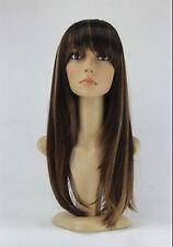 JIAFA343  pretty popular long brown mix straight hair wig wigs for women