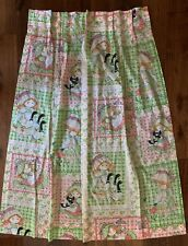 """2 Custom French Country Style Floral Pleated Cotton Drapes.42""""x44"""""""