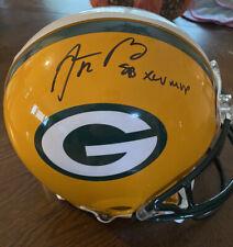 Aaron Rodgers Signed Authentic Proline Helmet - SB MVP Inscription Fanatics COA