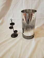 PartyLite large silver Mirrored tealight holder with tree gorgeous illumination