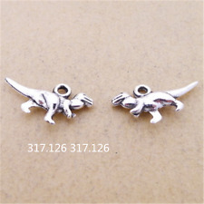 20X Tibet Silver  dinosaur Animal Pendant Charm Jewelry Making 11mm*20mm GU121