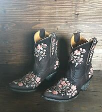 "Old Gringo Sora 8"" Boots Floral Embroidered Size 7 NEW SUPER CUTE!!!"