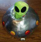 VERY RARE Nanco Green Alien UFO in Spaceship/Spacecraft Stuffed Animal Plush Toy