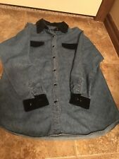 Copper Key Denim Shirt With Velvet Collar And Cuffs Med (63)