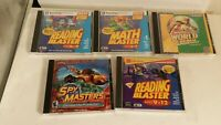 Lot 5 Math Reading Blaster Spy Masters Carmen Ages 6-9 9-12 PC CD Windows 98 95