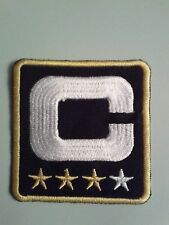 NFL CHICAGO BEARS CAPTAIN-C-4 STAR PATCH GOLD/BLACK/WHITE IR ON OR SEW ON