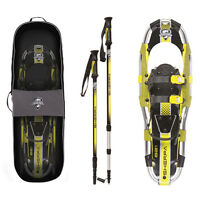Yukon Charlie's Sherpa Series Snowshoe 8 x 21 Inches, Yellow/ Black | 80-5005K