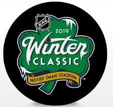 2019 WINTER CLASSIC PUCK NHL SOUVENIR STYLE CHICAGO BLACKHAWKS BOSTON BRUINS