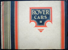 ROVER CARS RANGE SALES BROCHURE 1931