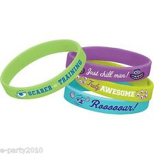 MONSTERS UNIVERSITY RUBBER BRACELETS WRISTBANDS (4) ~ Birthday Party Supplies