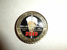 CHALLENGE COIN US NAVY SEAL TEAM SIX OSAMA DEAD 9-11 MISSION COMPLETE RARE FIND