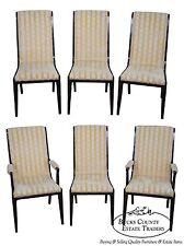 Mastercraft Set of 6 Burl Amboyna Wood Dining Chairs