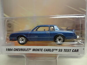 Greenlight 1984 CHEVY MONTE CARLO SS Blue '84 w/RR DETROIT SPEED S1