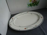 "GORHAM Ariana Town and Country Fine China Collection Oval Platter 14"" ~EUC~"