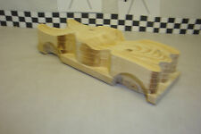 "Pinewood Derby Pre-cut, #135L ovr, ""The Batmobile"" Cool Fins & Fenders! Light!"