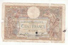 BILLET FRANCE  100  FRANCS   MERSON  2 / 2 / 1939  FZ