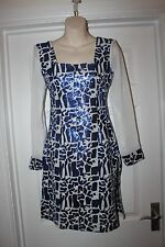 Ladies Blue & White Glitter Dress/ Top Size 8 Tunic