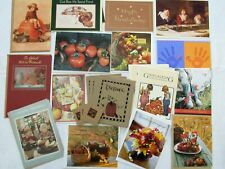 22 THANKSGIVING Greeting Card Lot UNUSED Hallmark Carlton Turkey Day