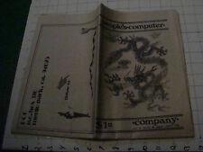 CHECK It Out--D&D steve jackson article in PEOPLES COMPUTER sep-oct 1976 - 48PG