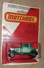 Lesney Matchbox Superfast No73 FORD MODEL A in GREEN lesney moc 1980 rare