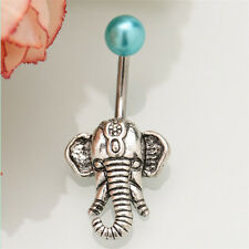 New Elephant Navel Belly Button Rings Steel Belly Bars Piercing Body Jewelry UK