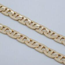 """8"""" Mens 8Mm Gold Ep Textured Mariner Link Bracelet"""