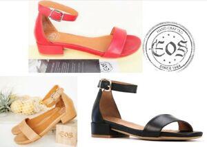 Eos Shoes Portugal Comfort low heel leather Sandals EOS Footwear Ester Sale