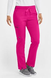 "Grey's Anatomy #500 Elastic Drawcord Cargo Scrub Pant in ""Pink Orchid"" Size 2XL"
