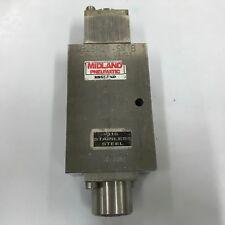 "4325M21-SM1B MIDLAND Stainless Steel 3/2-Way Pneumatic Poppet Valve  1/2"""